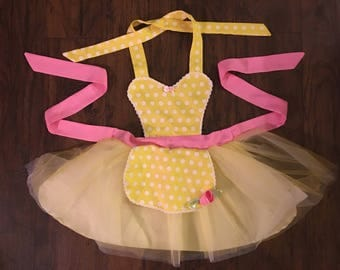 Belle  Princess Dress up Apron Disney Beauty and the Beast Inspired