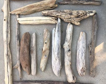 15 pieces Driftwood Lot of Large DriftWood for Crafts
