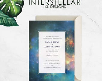 Wedding Invitation | Interstellar | Made to Order | Print at Home | Printable