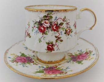 Elizabethan cup and saucer-fine china bone porcelain-made in Floral England