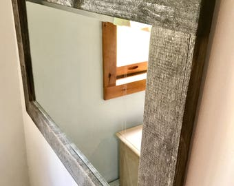 Vermont Rustic Barn Wood Mirror