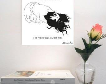 "Sketch print on rigid support-""Subsonica/Aurora Dreams"""