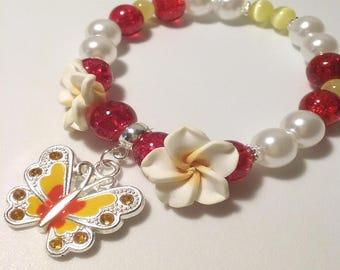Tropic Butterfly Beaded Bracelet