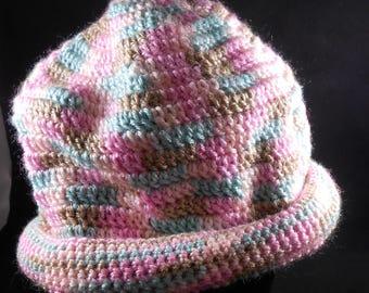 Crocheted Cap - Orange Blossom