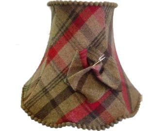 Country Check Scallop Lampshade