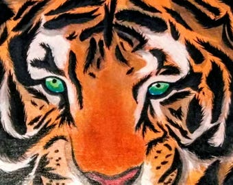 Tiger | Acrylic Canvas Painting