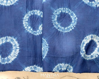 008 - Natural Hand Dyed Indigo Shibori Fabrics by Bio Method