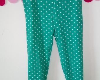 Leggings fille vert étoile