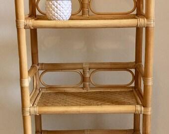 SOLD - Vintage wicker bookcase