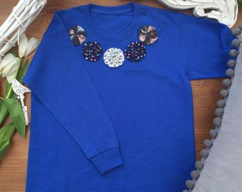 Girls Long sleeve Tshirt with applique detail