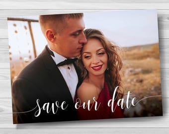 Save The Date Template Invitation, Save the Date Postcard Template, Save the Date Postcard with photo Template, Printable Save the Date Card