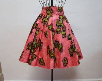 african skirts, wax print, knee length skirt