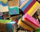 Bubbly Bits - Grab Bag / Soap Bundle / Fun Size Unique Assorted Soaps in colorful organza bag - Everyday Gift