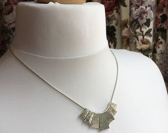 80's Vintage Bark effect necklace in lovely condition