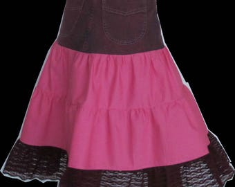 Jeans skirt PINK