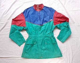 AE sport by elegance s.a. Paris ski snow wear thin jacket multicolored 36
