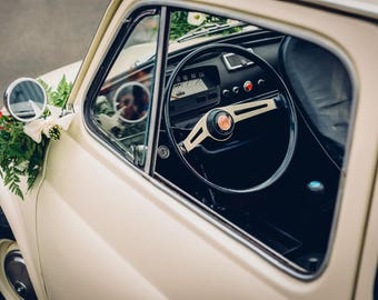 High quality A3+ print of a Fiat 500 on Canon Luster paper