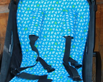 seat stroller liner with strap, stroller pad, pram strap covers, Bugaboo seat, baby carriers&wraps, stroller seat liner, Babyzen Yoyo, blue