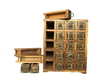 Antique Wooden Box with 20 Drawers- 24 X 17 X 30 CM || Fast shipping ||