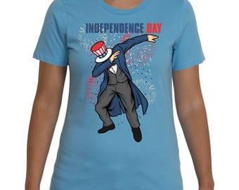 The dabbing Uncle Sam Independence Day 4th of July T-shirt