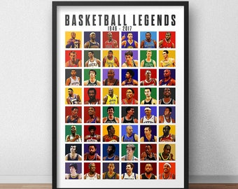 Basketball Legends Poster - All Times