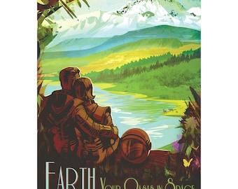 Earth Nasa Poster Digital Download
