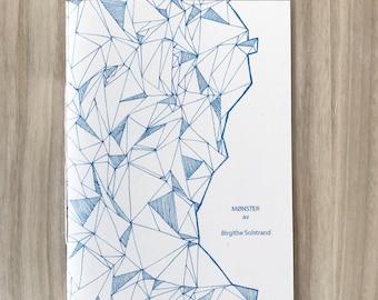 Pattern zine, Pattern fanzine, Risoprinted zine blue