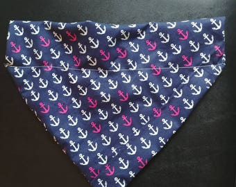 Anchor dog bandana that the collar goes thru!!