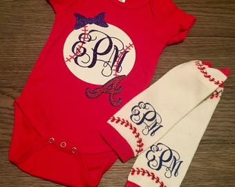 Baseball Baby Onesie & Leg Warmer Set