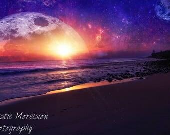 Galaxy Beach sunrise Print