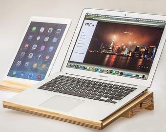 "ifun laptop stand (imac iphone ipad)  ""thirteen woodworking"""