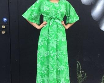 Vintage 1970's Maxi floral dress
