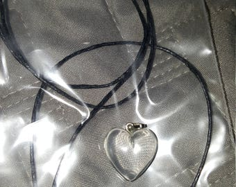 clear Heart shaped necklace