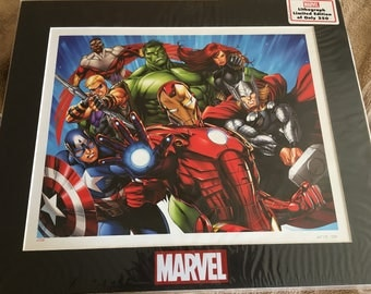Marvel Heroes Lithograph Limited Edition of 250