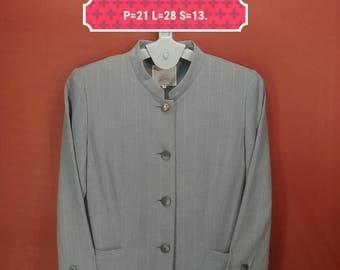 Vintage Burberrys Blazer Elegant Ladies Coat Gray Colour Size 13 Comme des Garcons Jackets YSL Jackets Blazer Designer