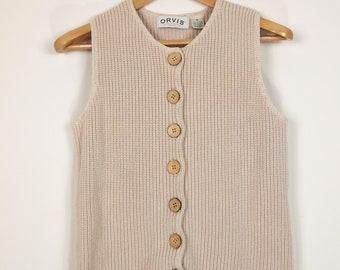Women's Orvis Cotton Sweater Vest or Sleeveless Sweater Sz. M