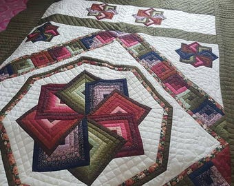 handmade quilts for sale spin star