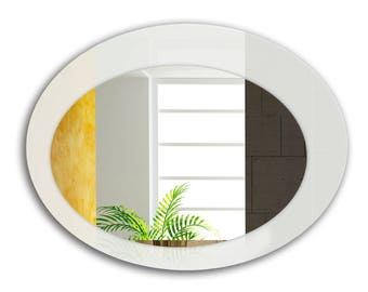 Pure White Oval Wall Mirror 31.inch X 23.inch