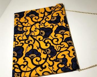 Ankara evening envelope clutch purse with gold chain