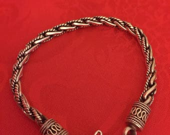 Beautiful Vintage Sterling Silver Rope Chain Bracelet.