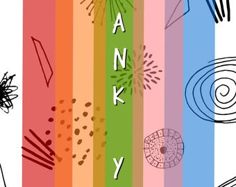 Rainbow Burst Thank You Card