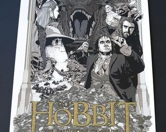Chris Marshall, The Hobbit, Desolation of Smaug, Artist Proof, AP, Cast and Crew, Weta, Variant, Limited Edition, Print, Art, Screenprint,