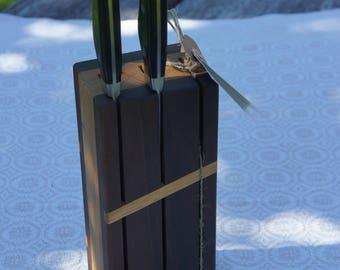Walnut Knife Rack // Oak Knife Block // Knife Holder // Knife Storage // Cutlery Block
