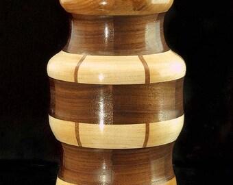 Walnut and Maple Vase