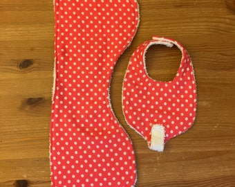 burp cloth, newborn bib with paci holder