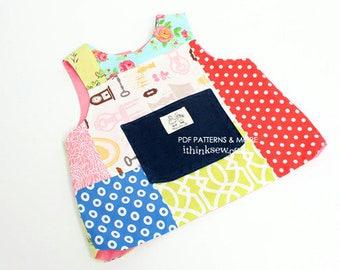 75 Emery Baby Bib Vest PDF Pattern