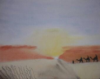 Africa, desert, sunset