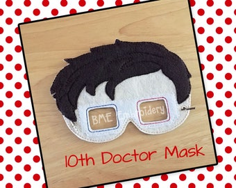 10th Doctor Who Inspired Felt Mask- Child's Dress Up and Imaginary Play- Birthday Party Favor-Photo Shoot-Pretend Play-Theme Party-Dr. Who