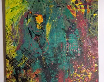 Abstract Painting 'Mardi Gras in the Rain'