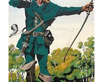 Poster - Robin Hood - Frank Newbould - fine art gallery